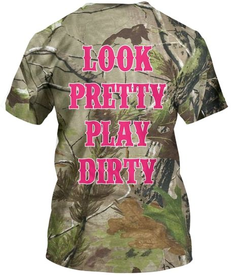 Look Pretty Play Dirty Pink Camo Country Girl Country Barbie shirt