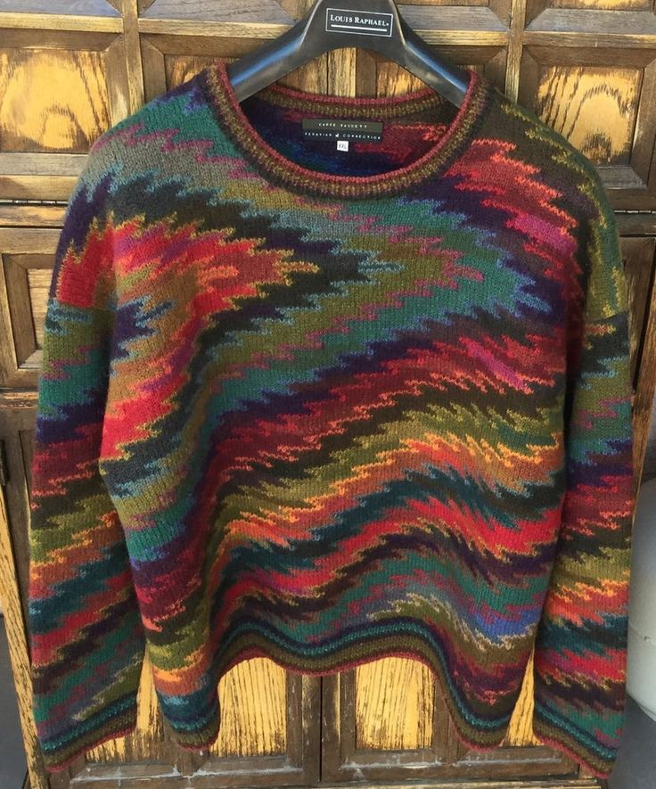Kaffe Fassett PERUVIAN CONNECTION Sweater Size XXL 100% ALPACA Made in Peru