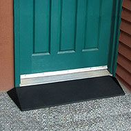 The Rubber Threshold Ramp can be placed in front of any doorway for easy access when using a walker, scooter or rollator