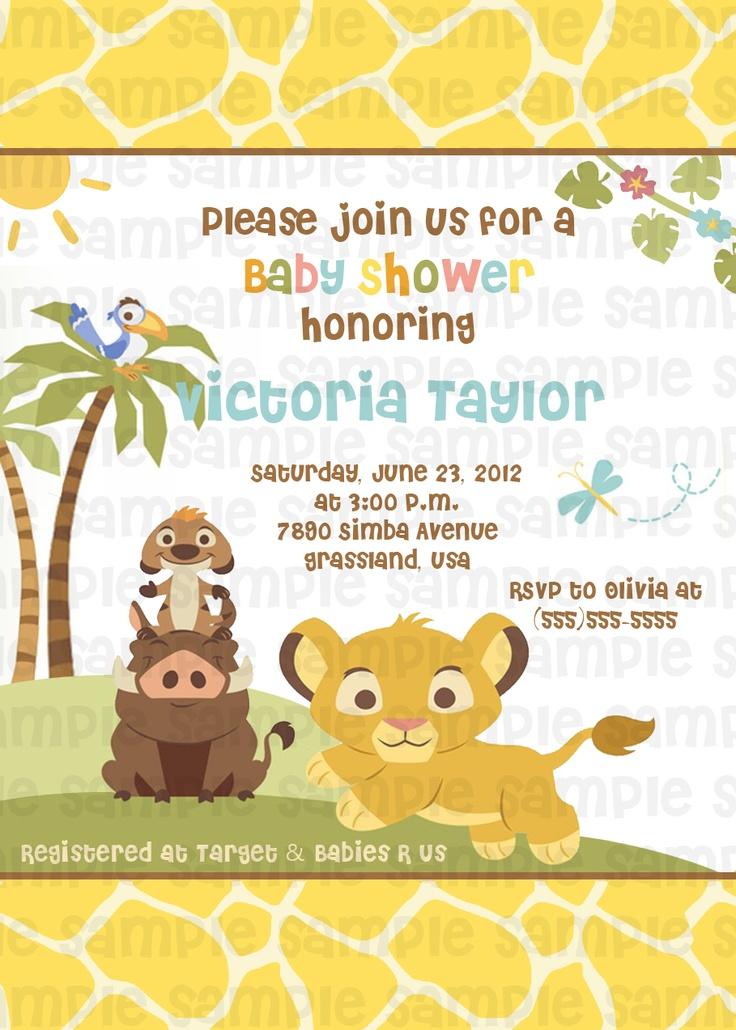13 best Lion King Baby Shower images on Pinterest | Lion king baby ...