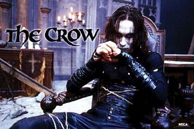 THE CROW MOVIE POSTER - BRANDON LEE SITTING - NEW 24X36