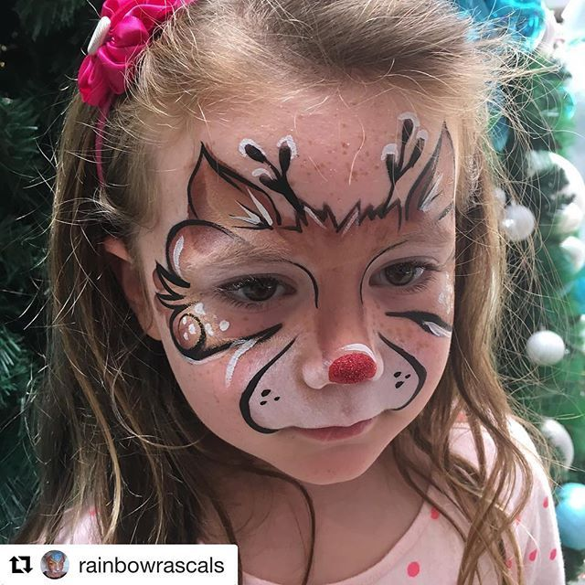 Love this sweet face and glittery nose! #Repost @rainbowrascals with @repostapp ・・・ #reindeermakeup #facepainting #faceart #reindeer #mua #rainbowrascals #christmas #festivefacepaint - reflective reindeer #shareyourfacepaint