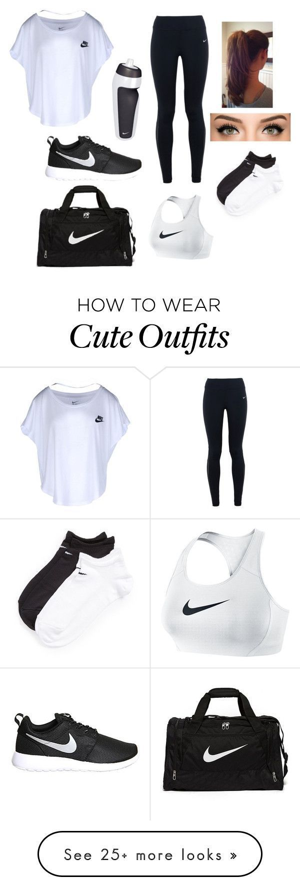 """""""Nike Outfit"""" by faith-shelton7879 on Polyvore featuring NIKE, women's clothing, women's fashion, women, female, woman, misses and juniors"""