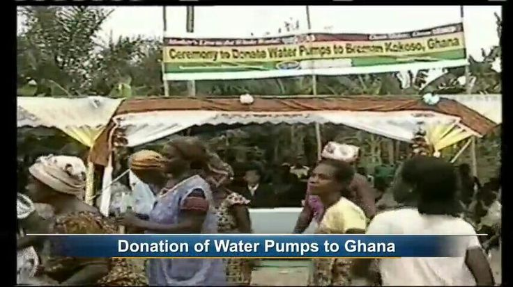 World mission soceity Church of God support water pumps  to Ghana.