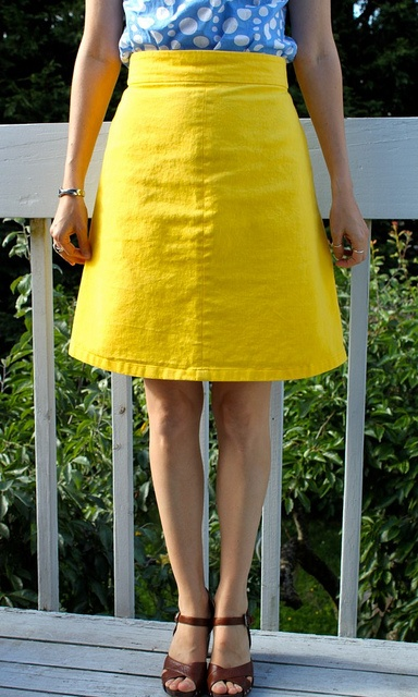 'Ginger' skirt pattern by Collette Patterns. Bravo! to she who made it!