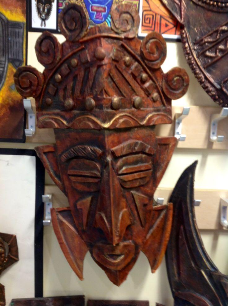 African cardboard mask, GCSE art