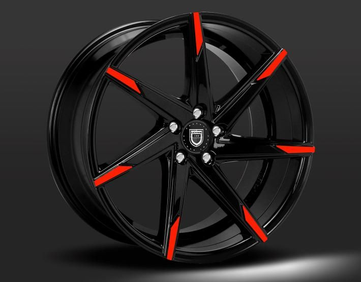 LEXANI CSS-7 custom - black and red finish