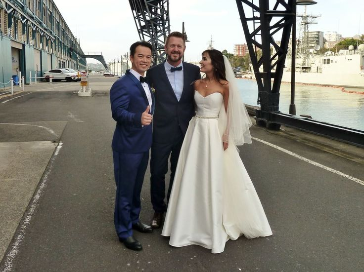 Lance and Kristy married at Ovolo Woolloomooloo - Marriage Celebrant Sydney Stephen Lee
