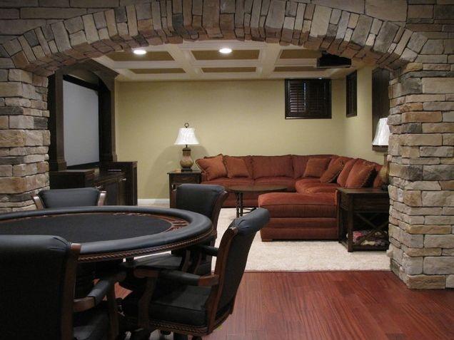 faux stone on interior walls basement ideas pinterest