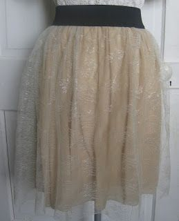 DIY lace skater skirt tutorial