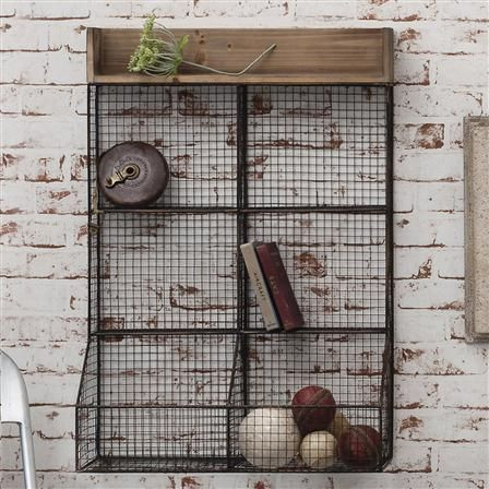 Gallery Home Langton Wire Double Storage Rack, Black