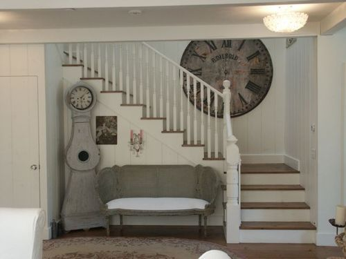 ,: Big Clocks, Decor, Beach House, Stairs, House Ideas, Shabby Chic, Staircase