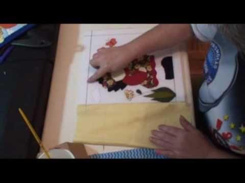 PATCHWORK NO ISOPOR (EMBUTIDO) - 7 - COLANDO FUNDO INTEIRIÇO - COM LU HERINGER
