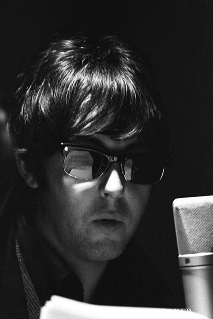 Paul McCartney pictured during the recording of The Beatles annual Christmas message to their fan club. Photo: Robert Whittaker