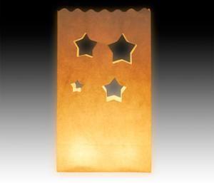 star punch paper bag luminarie