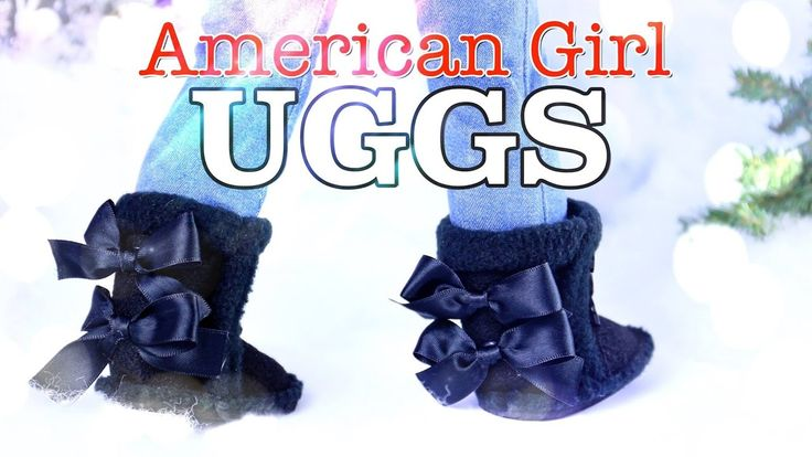 DIY - How to Make: American Girl UGG Boots - Holiday Gift Ideas - Craft ...