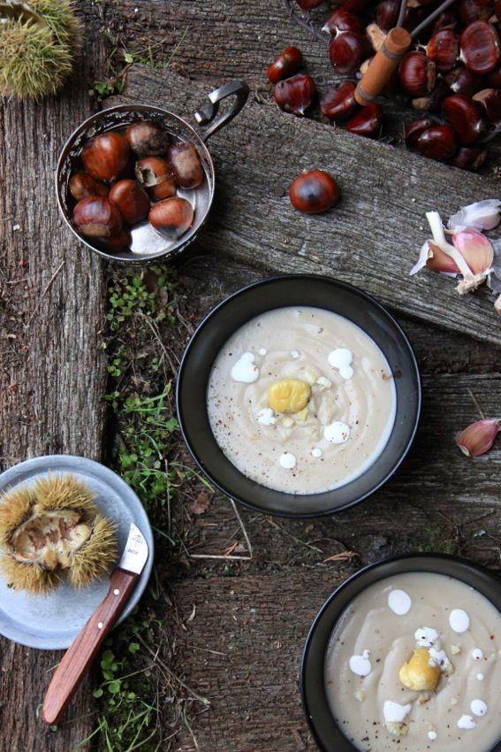 Velouté châtaignes céleri rave à l'érable / Petits repas [GREEN] entre amis