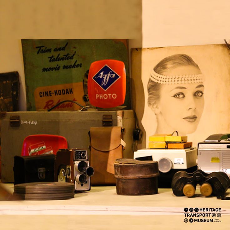 Check out the photography collectables displayed at the recreated street scene in the museum; vintage photographs, enamel boards, polaroid cameras, instantograph cameras and many more.  #vintagecollection #vintageadvertisements #polaroidcameras #transportmuseum