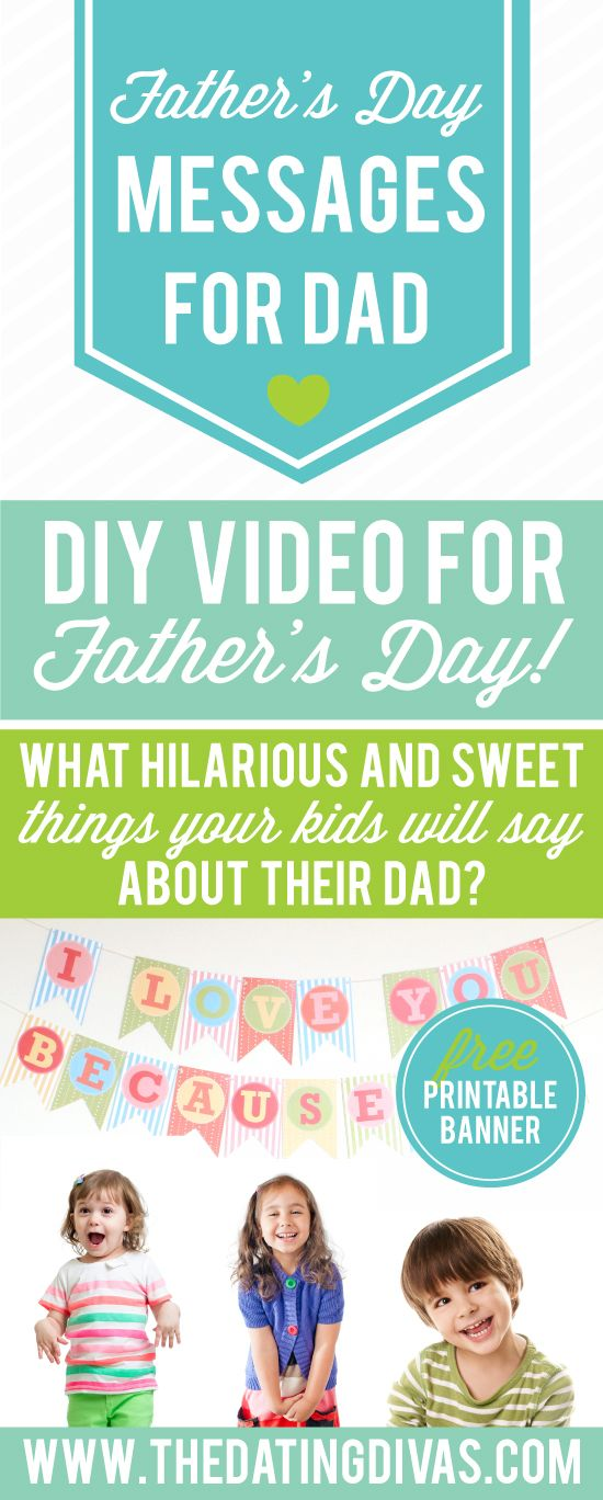 Awww, this is darling! What a creative Father's Day gift! www.TheDatingDivas.com