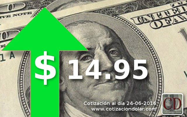 #Cotizacion promedio 24-06-16: #Dolar: 14.95 ▲ / #Euro: 17.19 ▲ / #Real: 4.43 ▲ / http://www.cotizacion-dolar.com.ar/
