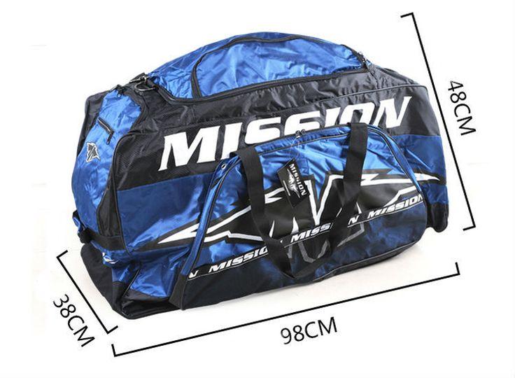 Darmowa wysyłka hokej na lodzie torba torba na sprzęt oversize niebieski kolor 98x48x38 cm