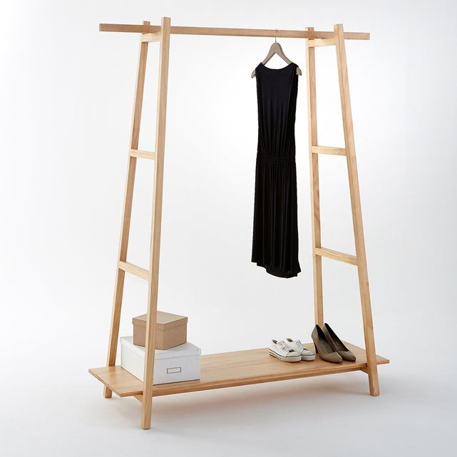 Uyen solid pine ladder clothes rack:1 hanging rail.2 ladder-type sides with 2 rungs.1 shelf.2 metal support bars for added stability.Uyen solid pine ladder clothes rack:Solid pine.Size of Uyen solid pine ladder clothes rack:Overall size:Length 140.4cmWidth 55cmHeight 179.3cm.Internal height of clothes rack: 157cm.Shelves: length 140 x depth 45cm.Size and weight of parcel:1 parcel. Length 190 x width 65 x height 17.5cm. Weight 20.2kg.Delivered to your door:Your Uyen ladder clothes rack is…