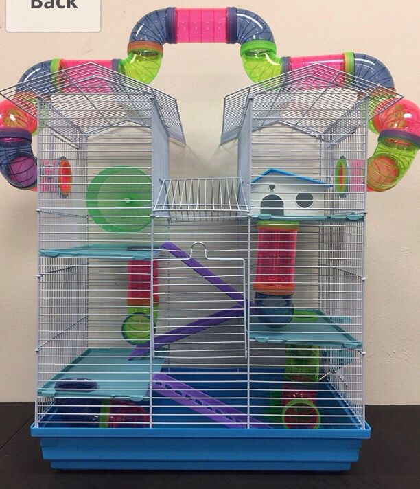 The Best Cages For Syrian Hamsters Online Hamster Habitat Syrian Hamster Gerbil