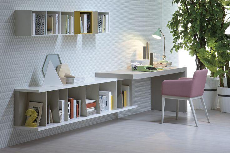 L-shaped Desk, Elle   Novamobili