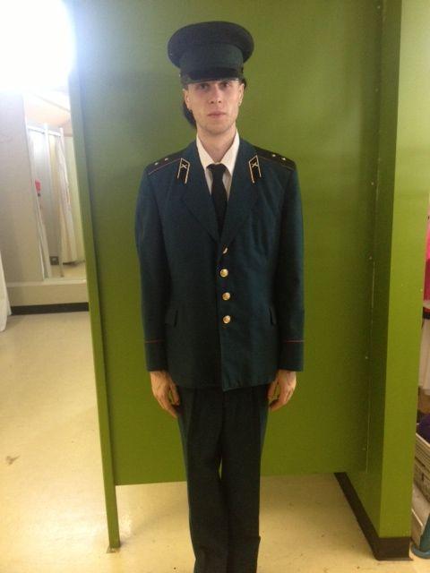 Proper military lad