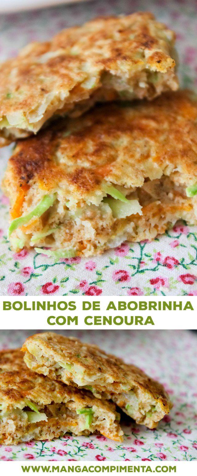 Bolinhos de Abobrinha com Cenoura, para um almoço leve e gostoso de verão. #receita #comida #vegetariano #comidadeverdade