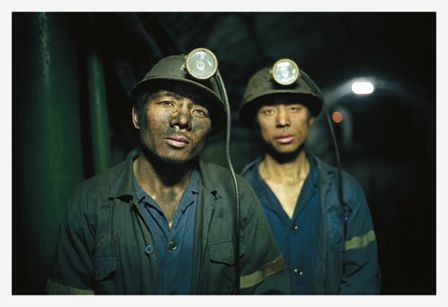 Miners after work at the Anyuan Coal Mine, Jiangxi Province//Andreas Seibert - From Somewhere to Nowhere - China's Internal Migrants