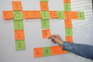 Palabras cruzadas para comenzar a asociar palabras y sonidos