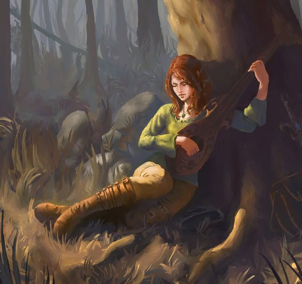Lute...pretty picture, could also be genderbent Kvothe if you will.