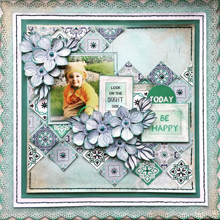 Layout for the Merly Impressions January 2017 crop kit, using the gorgeous Ubud Dreams Kaisercraft collection.