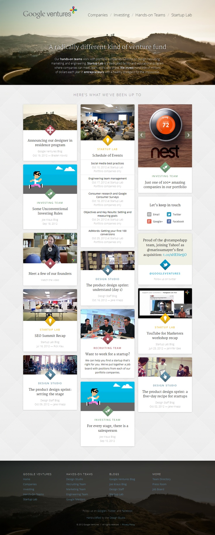 Google ventures theme - This Site Was Hand Crafted By The Google Ventures Design Studio Http