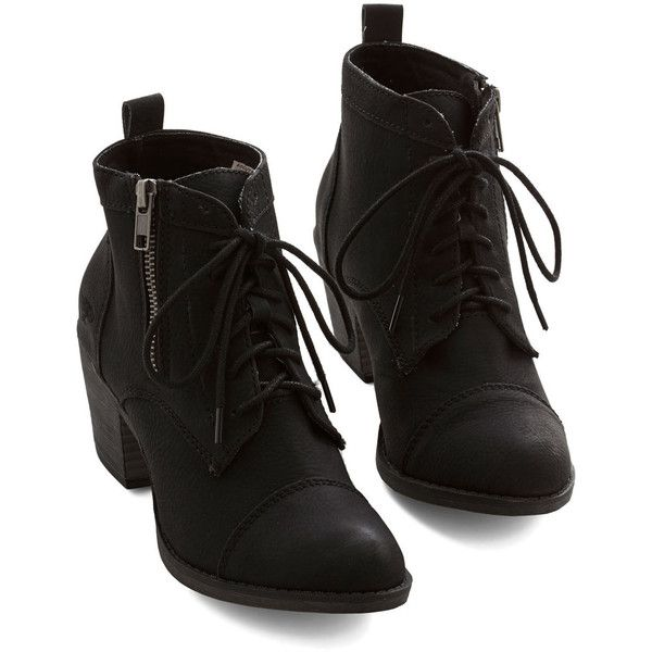 As soon as you press play on your fave jams, lace up these black ankle boots, because your style is sure to rock right alongside the energetic songs. For a gal…