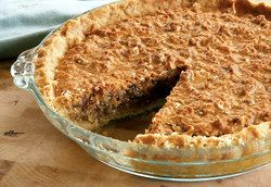 Amish Sawdust Pie a mouthwatering moist dessert full of crunchy pecans & sweet coconut