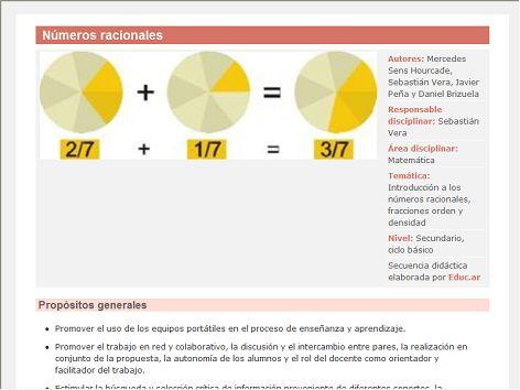 En esta sección nos dedicaremos a estudiar los números racionales (forma fraccionaria), los ubicaremos en la recta numérica y estudiaremos la densidad de este conjunto.