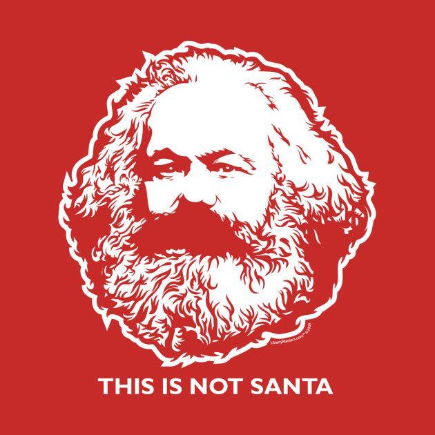 Awesome 'This Is Not Santa Karl Marx Shirts' design on TeePublic!