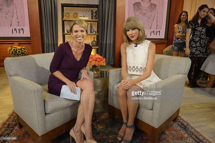 "Тейлор Свифт говорит Эми Robach о дебюте своего нового ""поп"" альбом, на Доброе утро, Америка, 8/19/14, проветривание на ABC Television Network.  (Фото Лоренцо Bevilaqua / ABC с помощью Getty Images) ЭМИ ROBACH, Тейлор Свифт"