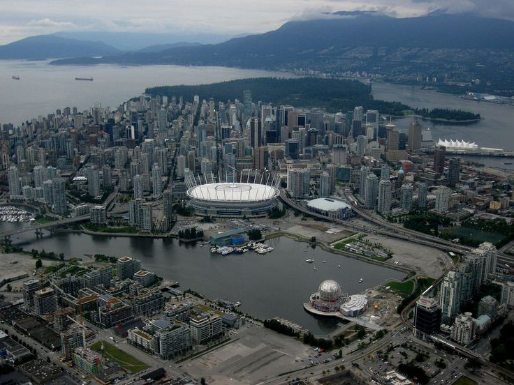 BC Place, False Creek, Science World all of these beautiful places are seen in Vancouver.