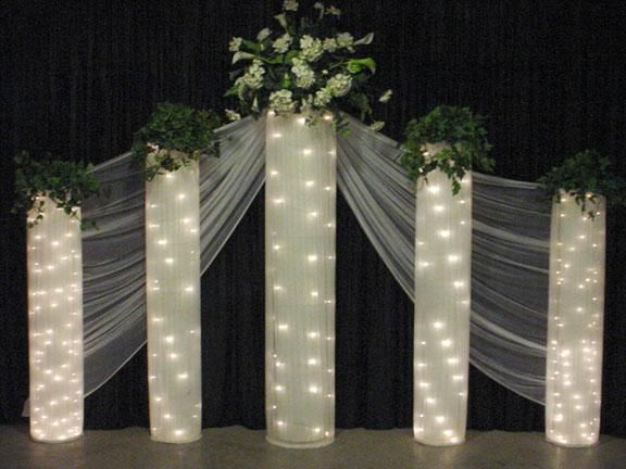 Lighted column backdrop