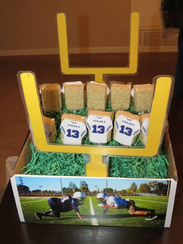 customized football centerpiece crafty girl creations by karen