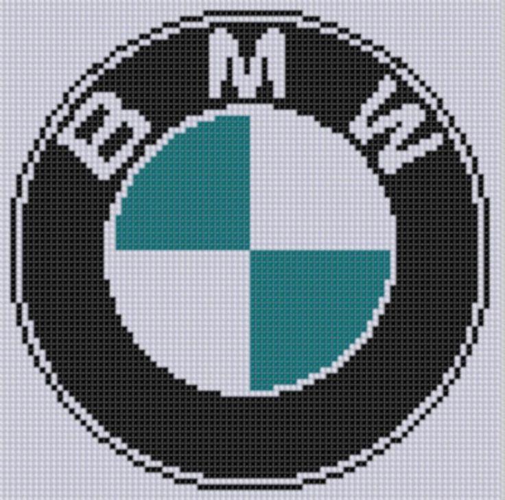 Saturn Car Logo BMW Cross Stitch...