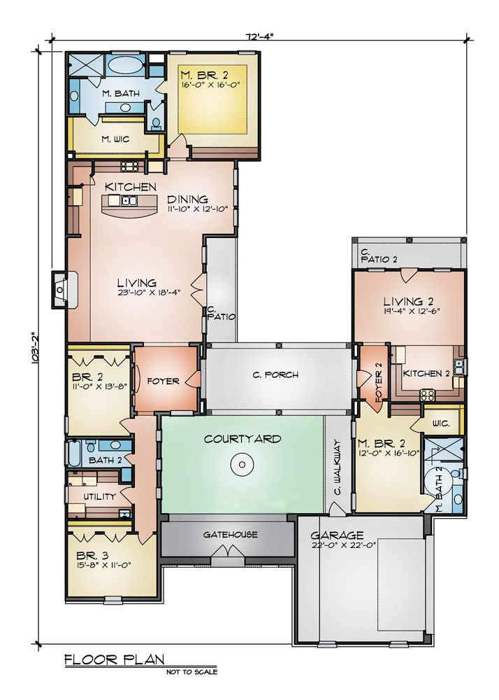 High Quality The Vicenza 4243   4 Bedrooms And 3.5 Baths | The House Designers