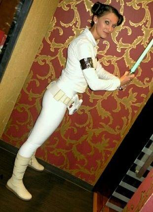 Star Wars Karnevalskostüm, Prinzessin Amidala/Leia (ohne Stiefel)