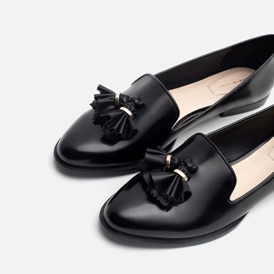 Image 5 of SLIPPER WITH TASSELS from Zara