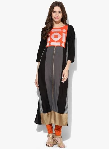 Buy W Orange Printed Cotton Kurta for Women Online India, Best Prices, Reviews | XW574WA59GLWINDFAS
