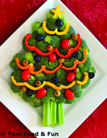 Healthy veggie trays make eating vegetables a fun holiday treat!