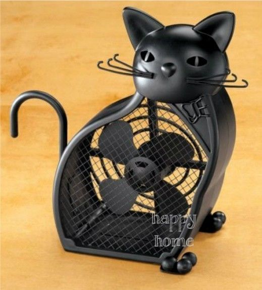 Black Kitty Cat Fan